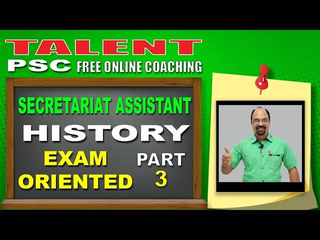 Highly Expected History Questions PART-3 | Secretariat Assistant | Kerala PSC | TALENT ACADEMY