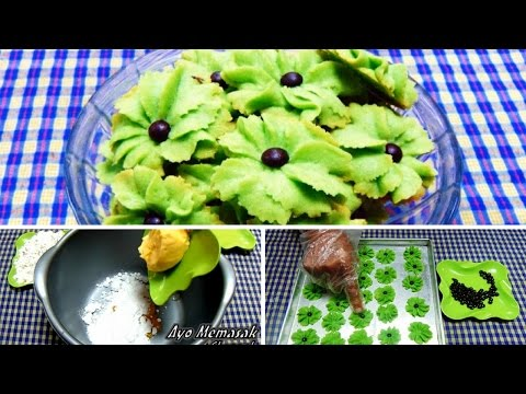 Video Resep & Cara Membuat Kue  Semprit Pandan Mawar Spesial Lebaran