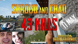 Shroud and Chad   43 Kills   PUBG (New Map: Sanhok)