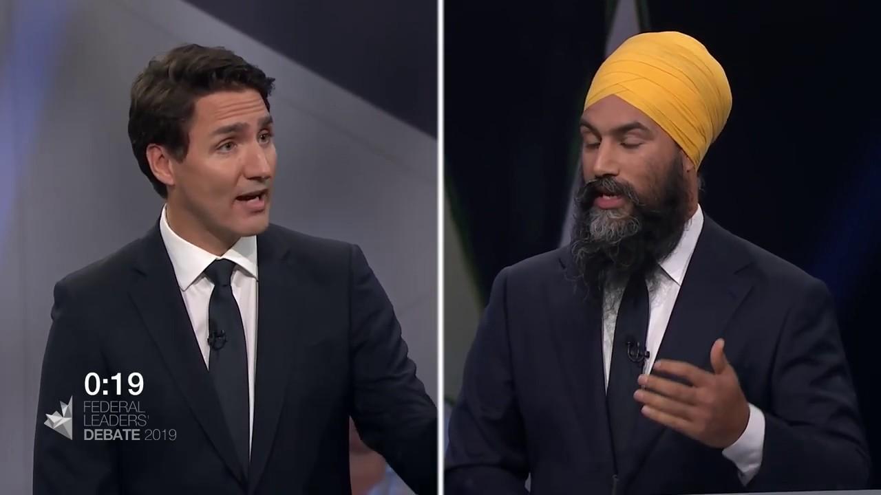 Jagmeet Singh debates Quebec's secularism law with Justin Trudeau
