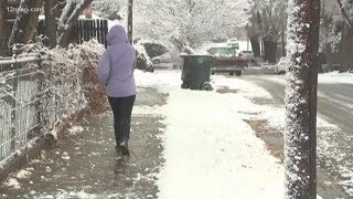 Flagstaff residents loving the magic of the first snow of the season