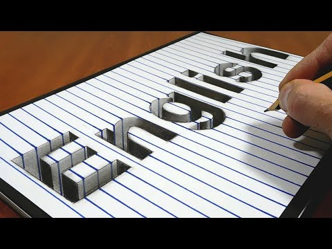 3D Trick Art on Paper   English Notebook Cover