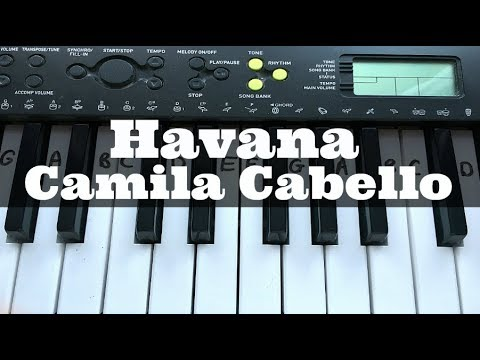 Havana - Camila Cabello | Easy Keyboard Tutorial With Notes (Right Hand)