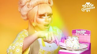 Baking a 6-Layered Rainbow Cake in An Easy-Bake Oven