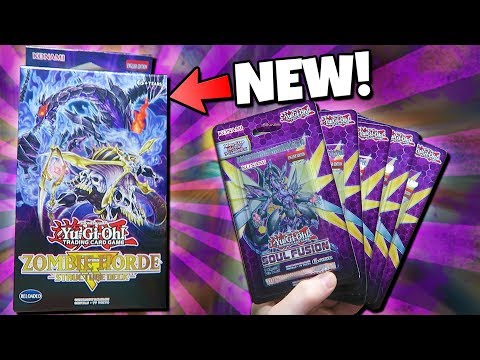 BEST YuGiOh ZOMBIE HORDE STRUCTER DECK OPENING REVIEW + SOUL FUSION BOOSTER PACK OPENING