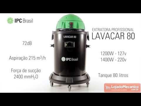 Extratora e Aspirador para Sólidos Lavacar 80 24 kPa 1400W  - Video