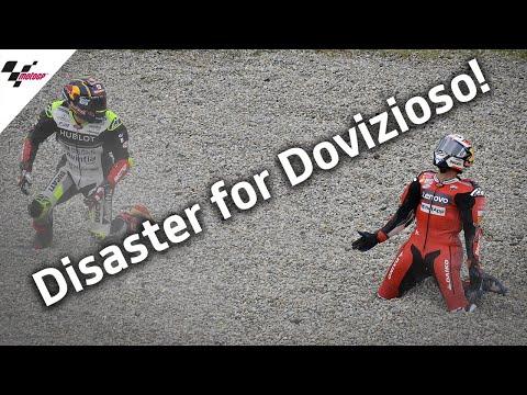 ポイントリーダーのドヴィチオーゾがザルコの転倒に巻き込まれる衝撃のクラッシュ動画。MotoGP カタルーニャGP