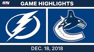 NHL Highlights | Lightning vs. Canucks - Dec 18, 2018