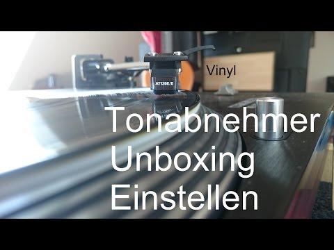 Plattenspieler Headshell Tonabnehmer ausrichten so gehts Unboxing Audio Technica | AT120E/II |
