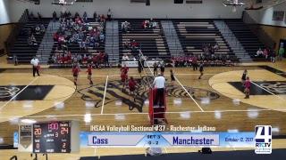 Sectional Volleyball - Cass vs Manchester