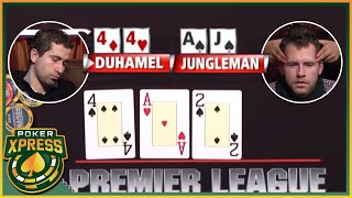 Flopping a SET vs a FLUSH DRAW: 5 EXCITING poker flops!