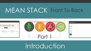 MEAN Stack Front To Back [Part 1] - Project Introduction