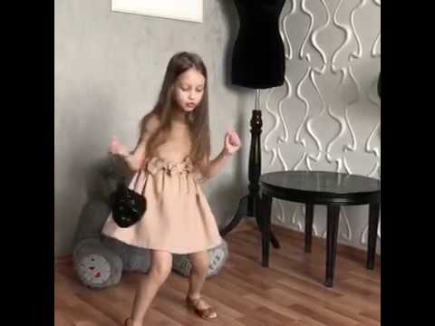 Little cute girl dance video
