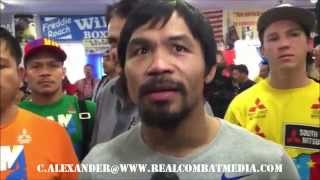 MANNY TALKS BLESSING & COMING FROM NOTHING TO SOMETHING! PACQUIAO MEDIA DAY WORKOUT HIGHLIGHTS!