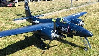 FMS F7F Tigercat Bad Kitty & FlightlineRC F7F Tigercat RC Plane Formation Flying