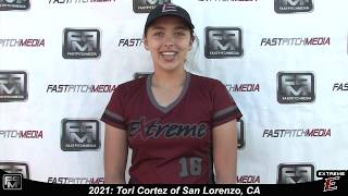 2021 Tori Cortez Pitcher and Outfield Softball Skills Video - Extreme Fastpitch