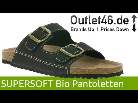 SUPERSOFT Herren Bio Pantoletten l Höchster Tragekomfort l 360° Video l Outlet46.de