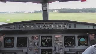 エアバスA340-200離陸コクピットビュー