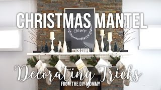 How To Decorate A Christmas Mantel // Easy DIY Tricks!