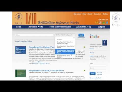 Encyclopaedia of Islam Online