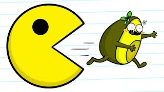 Pacman VS Vegetables - Cartoons