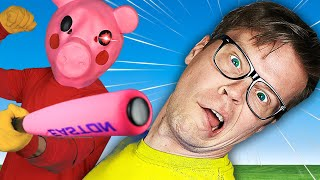 There is an EVIL PIG in our HOUSE - Surprising Piggy IRL to Host Game Night