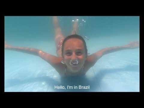 Carla Underwater swimming in Brazil