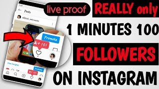 How to Get FREE 100 Followers On INSTAGRAM every minutes 2020 @mhcreator