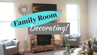 New Decor! Family Room Decorating