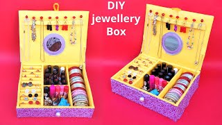 How to make jewellery box at home with cardboard