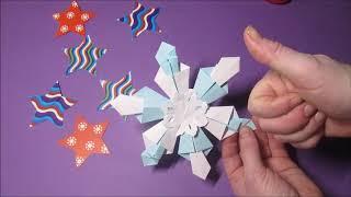 Снежинки своими руками. Делаем из бумаги. Оригами. DIY