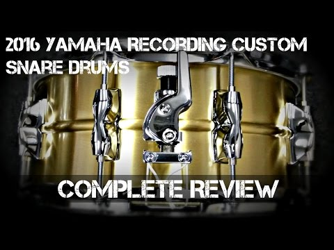 2016 Yamaha *RECORDING CUSTOM SNARE DRUMS* – Complete Review