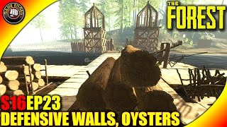 The Forest Gameplay - Defensive Walls, Oysters, Vault Talk - Let's Play S16EP23 (Alpha V0.36)