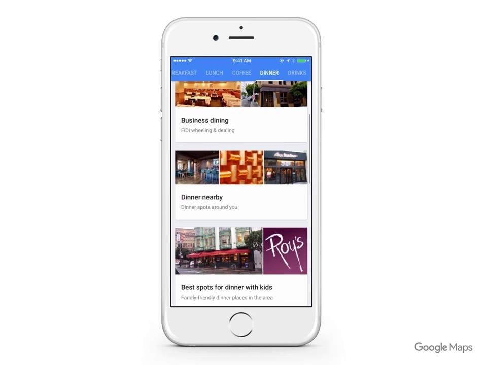 Google Maps: Find local spots for food and drinks near you