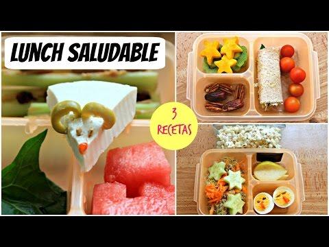 Lunch saludables para niños: 3 recetas