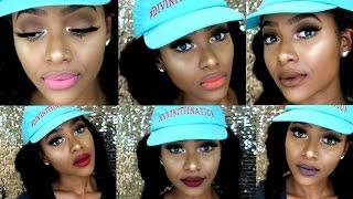 Lena Cosmetics Huge Liquid Lipstick Haul/ Swatch Video