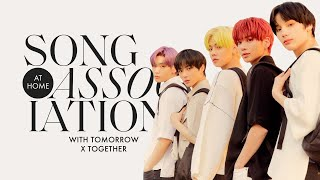 """TOMORROW X TOGETHER Sings BTS, Bruno Mars, and """"New Rules"""" in a Game of Song Association 