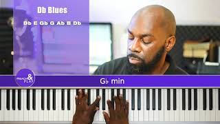 Db Minor Blues Scale