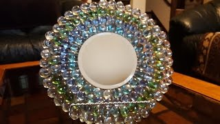 Mirrored Plate With Gems - Dollar Tree Crafts