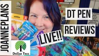 Late Night LIVE Dollar Tree Pen Reviews !!!
