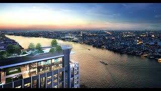 New High-Rise Riverside Smart Condo in Construction by Leading Thai Developer at Bang Phlat - Two Bed Units - Free Furniture