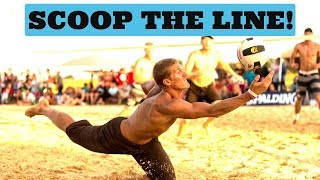 Beach Volleyball Tutorial: Footwork for Digging the Line Shot