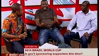 Midday Live - Sports Discuss Sponsoership Of Supporters To World Cup 2014 - 23/1/2014