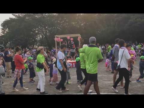 平成30年度 みなみ保育園 夏祭り 親子で盆踊り(エビカニックス音頭)