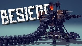 EPIC MACHINE GUN - Besiege Alpha Sandbox