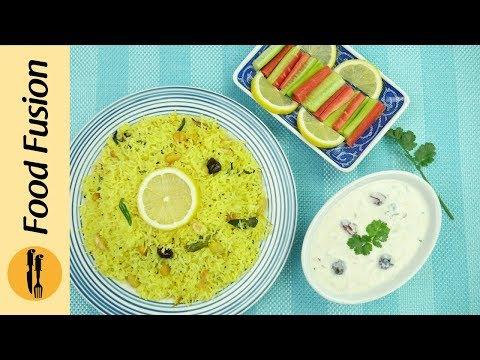 Lemon Rice with Loki ka (Bottle Gourd) Raita Recipe By Food Fusion