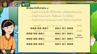 สื่อการเรียนการสอน คำประพันธ์กลอนสุภาพ ป.6 ภาษาไทย
