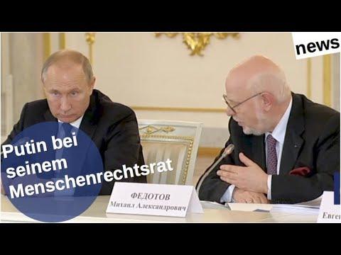Putin bei seinem Menschenrechtsrat [Video]