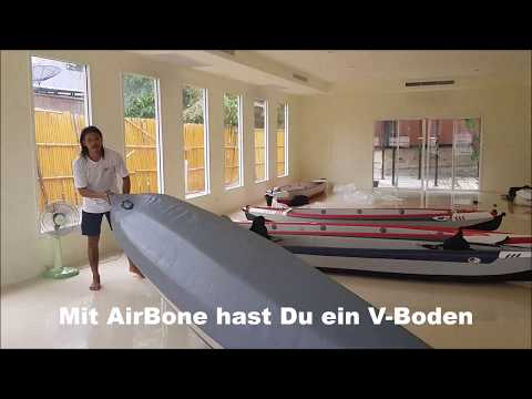 AirTrek Flex with AirBone Set up DSKajak  Manual Video Deutsch