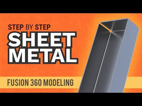 Basic Sheet Metal Parts in Fusion 360's Sheet Metal Workspace